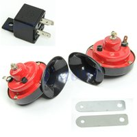 Wholesale 1pairs V Loud Car Auto Truck Electric Vehicle Horn Snail Horn Sound Level dB