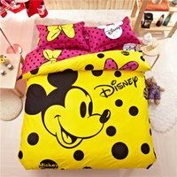 mickey mouse bedding - New Arrival Mickey Mouse Comforter Set Luxury Bedding Sets Yellow Comforter Sets