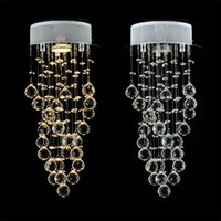 Wholesale Creative Modern Simple Personality LED Crystal Ceiling Lamp Balcony Stairs Spiral Ceiling Lights Dining Room Ceiling Lights