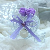 Cheap New Arrival wedding Day Tag Carriage Wedding Favour Boxes Wedding Suppliers Chocolate Party Favor Box 6 Colors