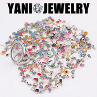 memory lockets - 100pcs Mix Design Assorted Charms Mix Flating Charms Floating Locket Charms For Glass Living Memory Locket Pendant