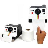 bathroom toilet paper storage - Piece Vintage Retro Camera Shape Toilet Roll Paper Dispenser Plastic Bathroom Paper Tissue Storage Box Holder