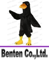 adult big bird costume - Carnival Mascot Black Big Bird Raven Mascot Costume Adult Size Cartoon Character Outfit Suit Fancy Dress Costumes LLFA3038F