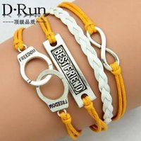 beautiful handcuffs - Beautiful Bracelets Ms LOVE handcuffs shape hand woven bracelets fashion multilayer