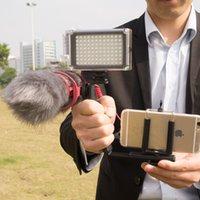 Wholesale Phone Video Film Kit Include Microphone Rode VideoMic Go Mini LED Light Microphone Windshield L Grip Braket Phone Clip