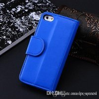 Cheap Photo Frame Wallet Book Style Flip Leather Cover Case For Iphone 5 5G 5S With ID Credit Card Slots Stand Holder AC827