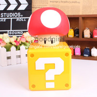 big piggy banks - Super Mario Bros Coin Bank Mushroom Figure Toys Dolls Piggy Bank Deposit Coins For An Authentic Game Sound SMFG242