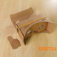 Wholesale 10pcs Hot Sale Google Cardboard VR Virtual Reality D Glasses Storm Mirror DIY Kit and Head Mount strap For iphone plus s samsu