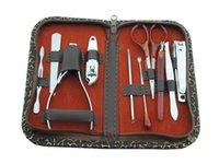 Wholesale Hot selling suitable Case set Nail Manicure Set Tools Nail Care Set Pedicure Scissor Tweezer Knife Ear