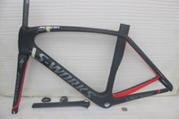 arrival finishes - free shippin New arrival Black gray cadre carbone carbon road frame bike frames color carbon bicycle frameset UD glossy matte finish