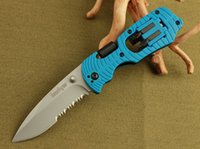 Wholesale Blue Kershaw half blade folding pocket knife camping hunting knives clasp knifes outdoor survival tool tools hands edc