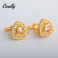best buy crystals - High Quality Luxury Crystal K Gold Filled Man Cufflinks Best Man Cufflinks Gentlmen Businessman Cuff Links in Bulk Buy