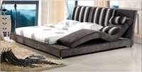 bedroom furniture and beds - Confortable Flannel Bed with Chair Longue Recliner Modern Design Practice and Fashion Bed Bedroom Furniture D42
