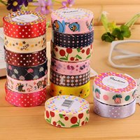 Wholesale C03 anchor retro British style plaid cute dot floral cloth tape