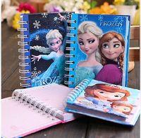Wholesale Anime Frozen Elsa Anna Notebook Notepad Diary Book Travel Notebook SOFIA Notebooks School Supplies