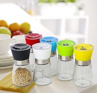 pepper mill - Hot selling High Quality Glass Pepper set Salt Herb Spice Hand Grinder Mill manual pepper mill