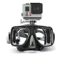 Wholesale Top quality silicone gopro scuba diving mask camera freehand tempered glass lens gopro diving snorkel mask silicone seal adult diving mask