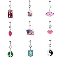 Wholesale New Style Fashion Navel Ring Belly Ring Body Jewelry latest fashion factory direct stainless steel nail buckle Colourful navel