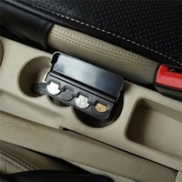Wholesale 1pc New Creative Black Plastic Car Organizer Rolls Pocket Telescopic Dash Coins Case Storage Box Holder Container EJ678136