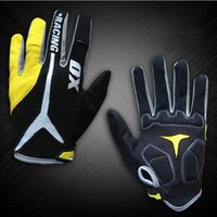 baseball gloves sizes - New GEL Bike Bicycle Gloves Men s Full Finger Cycling Biking Racing Gloves Luvas M L XL Size