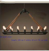 cheap pendant lamp europe retro rope chandelier nordic rh loft style living room rustic restaurant lighting cheap rustic lighting
