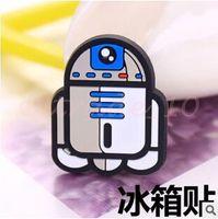 Wholesale 3000pcs LJJC2874 Hot Sale Cartoon Star Wars Black Knight Darth Vader Yoda Minifigure Refrigerator SWAT Posted Magnet Blackboard MagneticToys
