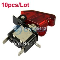achat en gros de interrupteur à bascule auto auto-10pcs / Lot Rouge 12V 20A Car Auto Cover LED SPST Rocker Toggle Switch Commande On / Off Nouveau Livraison gratuite TK0118