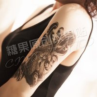 armed maps - Original flower arm tattoo stickers waterproof carp leg men and women spend large map