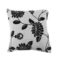 Wholesale Hot Home pillow cover sets black and gray flower cushion pillow minimalist style