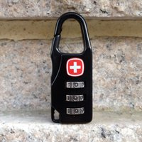 Wholesale Outdoor Travel theft lock mini lock lage locks lock Customs zip lock backpack Special