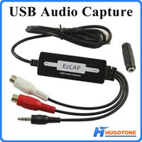 Wholesale EzCAP mm RCA to USB Audio Capture Converter Adapter for Laptop Tape CD MP3 MD Phono Support Windows MAC OS