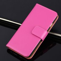 Cheap Phone Skin Cases Real Leather Wallet Credit Card Holder Stand Case Cover 10 Colors For iPhone 5 6 6Plus DHL Free SCA063