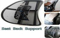 Wholesale Fashion Hot Car Seat Chair Massage Back Lumbar Support Mesh Ventilate Cushion Pad Black