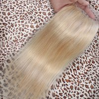 Wholesale Platinum Blonde Closure Unprocessed Silk Straight Indian Human Hair Free Middle Three Part Swiss Lace Top Closures Piece Bleached Knots
