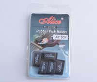 Wholesale hotselling Alice A010C Rubber Guitar Picks Plectrum Strings Holder Clamp Clip Black
