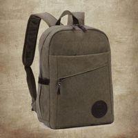 aluminium laptop bag - new Minimalism Men s School Bag Aluminium Alloy Laptop High Quality Backpack Casual canvas bag shoulder computer Bags