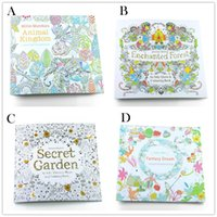 big book - 4 Design Secret Garden An Inky Treasure Hunt and Coloring Book Children Adult Relieve Stress Kill Time Graffiti Painting Drawing Book B001