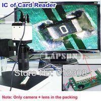 av repair - MP HD in Digital Industry Microscope Video Industrial Set Camera VGA USB AV TV Output C mount Zoom Lens for PCB Repair