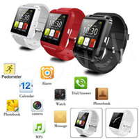 Wholesale New Black U8 Bluetooth Smart Watch Camera For Android IOS Iphone Samsung LG HTC
