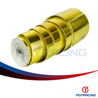 Wholesale PQY STORE quot x5 Meter Aluminum Reinforced Tape Adhesive Backed Heat Shield Resistant Wrap Intake Gold PQY1613
