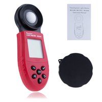 Wholesale Digital Photometer lux photometer Light Meter Lumen Lumenmeter Tester Light Meter LCD Display Fast Shipping T0014
