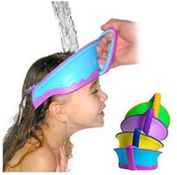 Wholesale Patent smart silicone air cushioned adjustable baby waterproof shampoo cap child shower hat kids bath visor