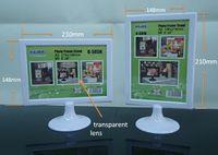art display pedestal - 148 mm Horizontal Vertical Bisiness Sign Frame Stand Art Frame Round Pedestal A4 Advertising Display Menu Display for Hotel Bar