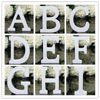 wood letters - Home Decor Decoration thick Wood Wooden White Letters Alphabet Wedding Birthday cmX1 cm
