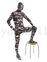 Wholesale Funny Camouflage Lycra Spandex Halloween Costumes Catsuits cosplay free size custom