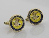 Wholesale The United States Department of justice DOJ metal Cufflinks logo Cufflinks personality Cufflinks
