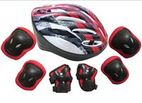 Wholesale 7pcs set skating protector sets with helmet gear set elbow pads knee pads helmet armguard For Smart balance scooter