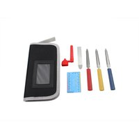 Wholesale Guitar Accessories Set Guitar Luthier Repair Tools Kit Set with Files Stainless Steel Ruler Winder String Action Gauge I1021