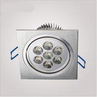Wholesale single head W LED Grille light kitchen spot lamp silver color aluminum AC85 V MM DY