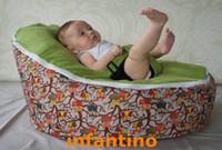Wholesale comfortable lazy sofa child bean bag baby bean bag HOOT OWL GREEN SEAT